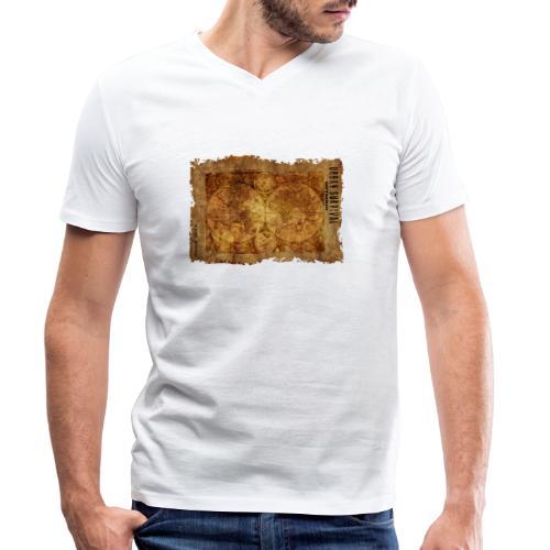 map of the world 2241469 1920 - Männer Bio-T-Shirt mit V-Ausschnitt von Stanley & Stella