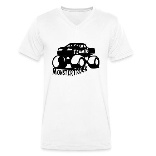 logo mtteam16 noir - T-shirt bio col V Stanley & Stella Homme