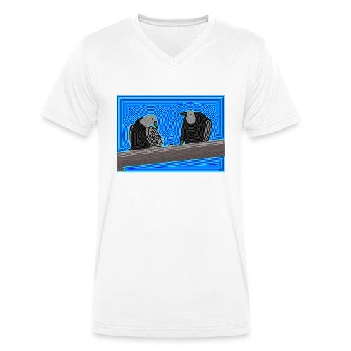 Aves en lineas - Camiseta ecológica hombre con cuello de pico de Stanley & Stella