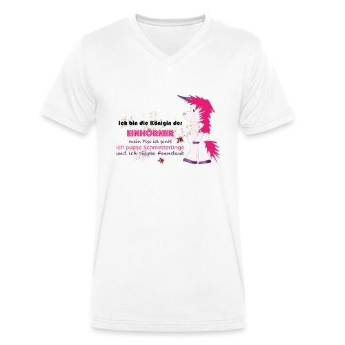 Einhorn 5 - Männer Bio-T-Shirt mit V-Ausschnitt von Stanley & Stella