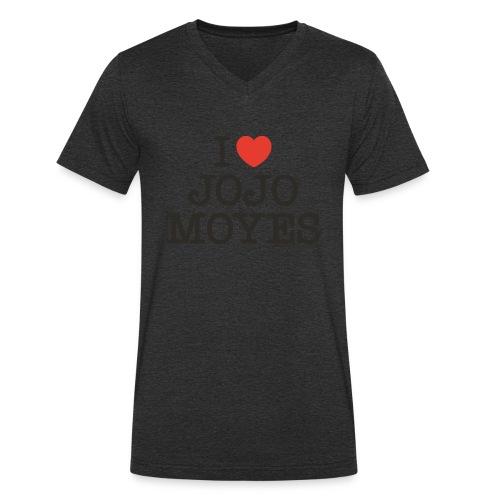 I LOVE JOJO MOYES - Økologisk Stanley & Stella T-shirt med V-udskæring til herrer
