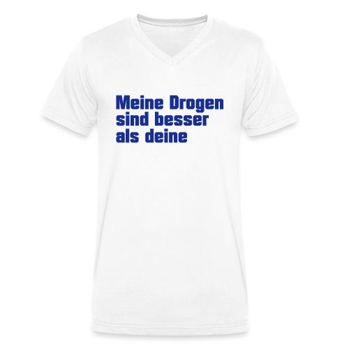Meine Drogen - Männer Bio-T-Shirt mit V-Ausschnitt von Stanley & Stella