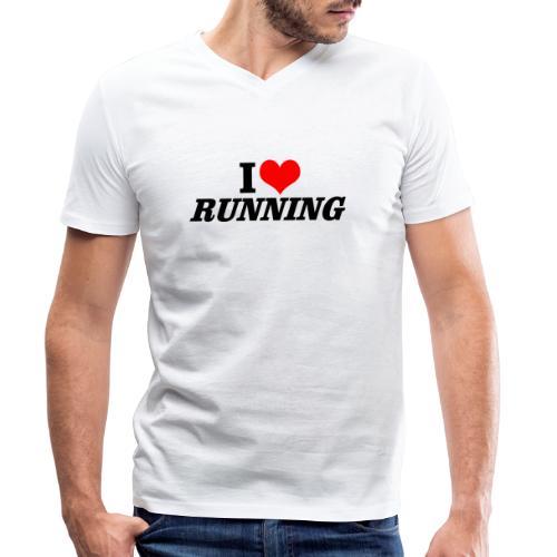 I love running - Männer Bio-T-Shirt mit V-Ausschnitt von Stanley & Stella