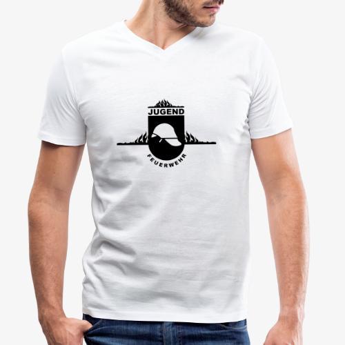 Jugend Feuerwehr - Männer Bio-T-Shirt mit V-Ausschnitt von Stanley & Stella