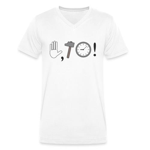 Stop, Hammer Time! - Männer Bio-T-Shirt mit V-Ausschnitt von Stanley & Stella