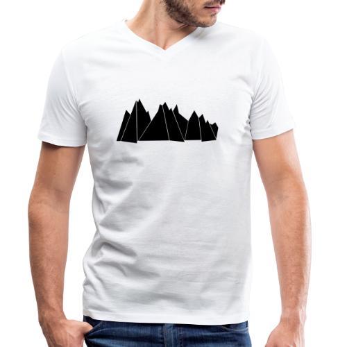 BlackMountains - Männer Bio-T-Shirt mit V-Ausschnitt von Stanley & Stella