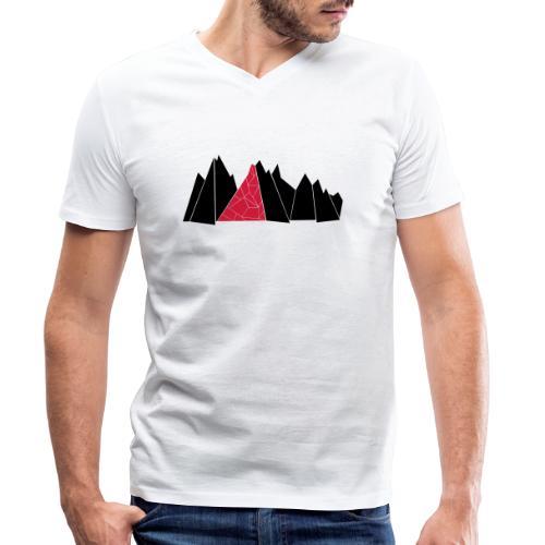 T-Shirt Mountains - Männer Bio-T-Shirt mit V-Ausschnitt von Stanley & Stella