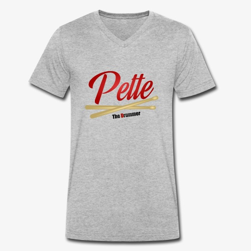 Pette the Drummer - Men's Organic V-Neck T-Shirt by Stanley & Stella