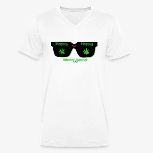 happy maria - Camiseta ecológica hombre con cuello de pico de Stanley & Stella
