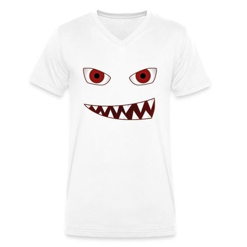 smiling devil emoticon grinning red demon - Männer Bio-T-Shirt mit V-Ausschnitt von Stanley & Stella