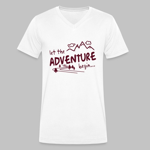 Let the Adventure begin - Men's Organic V-Neck T-Shirt by Stanley & Stella