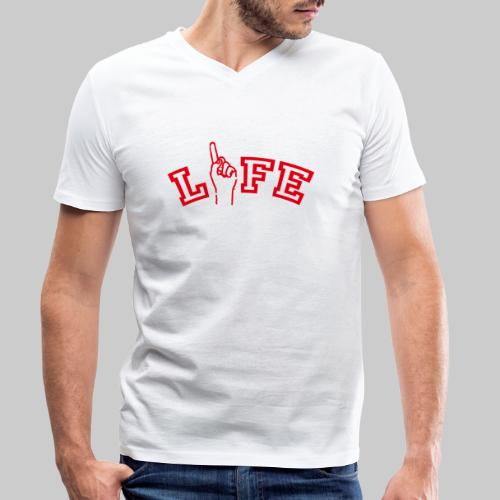 ONE LIFE - Men's Organic V-Neck T-Shirt by Stanley & Stella