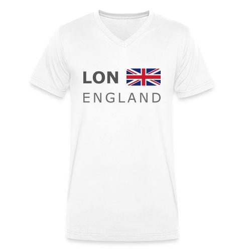 LON ENGLAND BF dark-lettered 400 dpi - Men's Organic V-Neck T-Shirt by Stanley & Stella