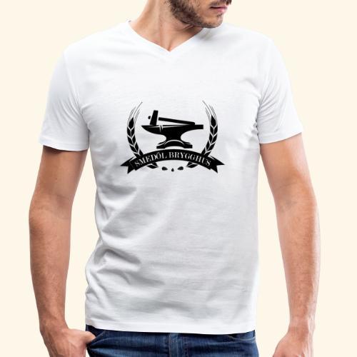 Smedöl Brygghus Logga Svart - Ekologisk T-shirt med V-ringning herr från Stanley & Stella