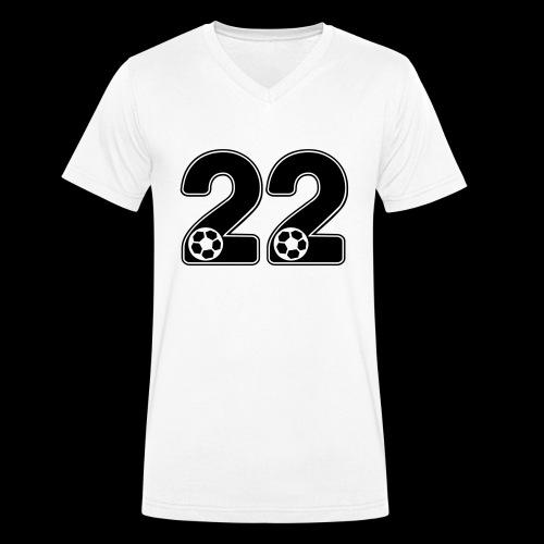 foot numero 22 - Men's Organic V-Neck T-Shirt by Stanley & Stella