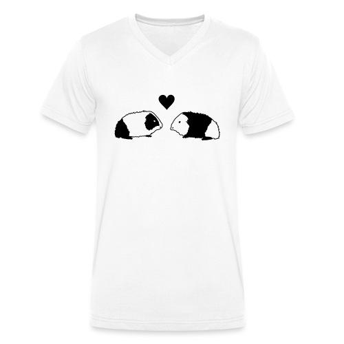 Meerschwein Love - Männer Bio-T-Shirt mit V-Ausschnitt von Stanley & Stella