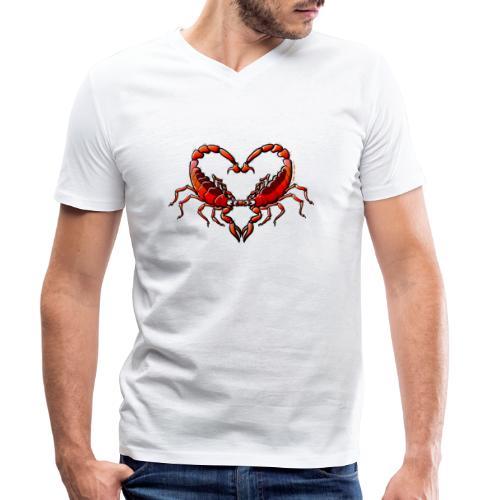 Loving Scorpions - Men's Organic V-Neck T-Shirt by Stanley & Stella