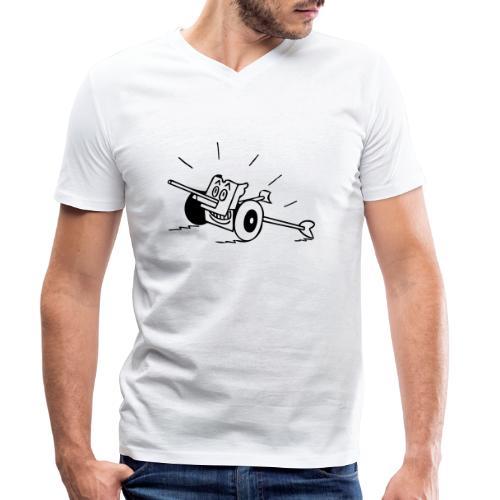 Panzerabwehrkanone - Männer Bio-T-Shirt mit V-Ausschnitt von Stanley & Stella