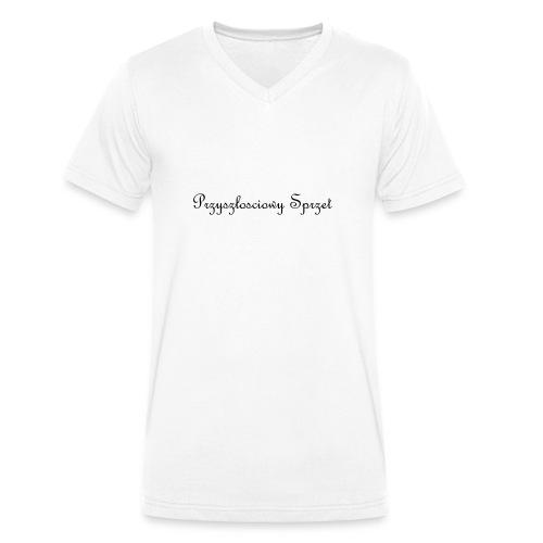 teksty na koszulke - Ekologiczna koszulka męska z dekoltem w serek Stanley & Stella