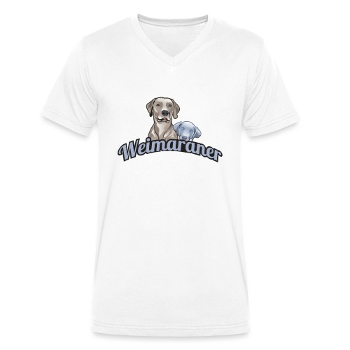 weimaranerlogo01 - Männer Bio-T-Shirt mit V-Ausschnitt von Stanley & Stella