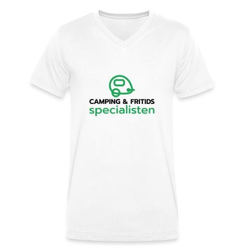 Camping & Fritidsspecialisten - Ekologisk T-shirt med V-ringning herr från Stanley & Stella