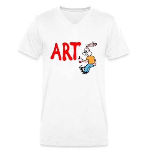 Serge Le Lapin graffeur - T-shirt bio col V Stanley & Stella Homme
