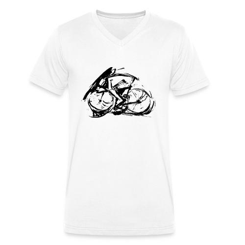 futuristischer radfahrer - Männer Bio-T-Shirt mit V-Ausschnitt von Stanley & Stella