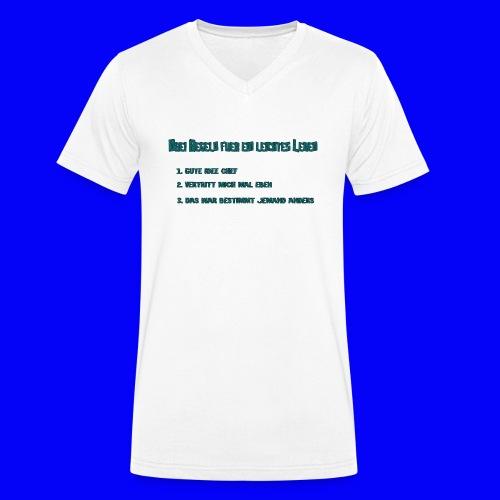 LebensRegeln - Men's Organic V-Neck T-Shirt by Stanley & Stella