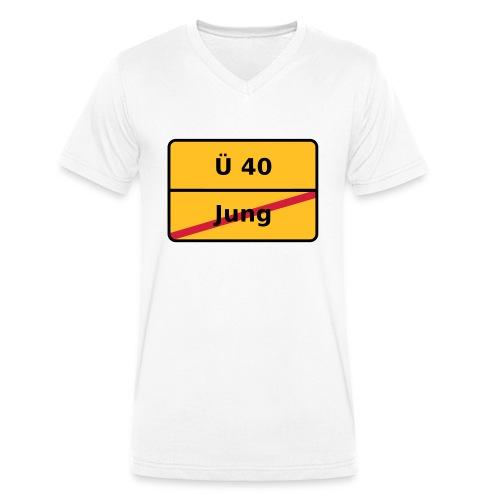 Über 40 - Männer Bio-T-Shirt mit V-Ausschnitt von Stanley & Stella