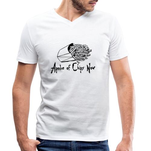 A Poke of Chips Now - Men's Organic V-Neck T-Shirt by Stanley & Stella