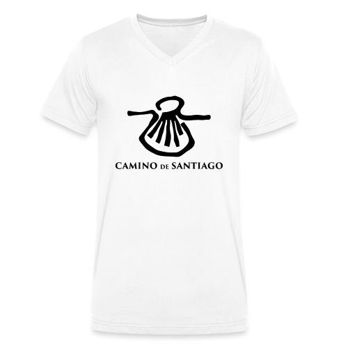 Camino de Santiago - Økologisk Stanley & Stella T-shirt med V-udskæring til herrer