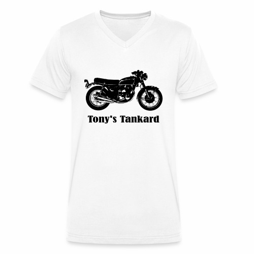 tonys tankard - Men's Organic V-Neck T-Shirt by Stanley & Stella