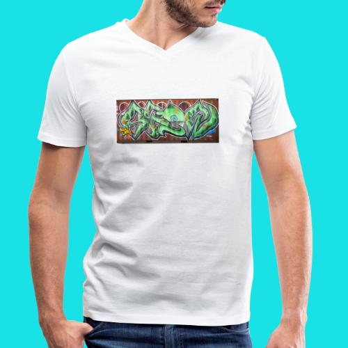 streetart #10 - Mannen bio T-shirt met V-hals van Stanley & Stella