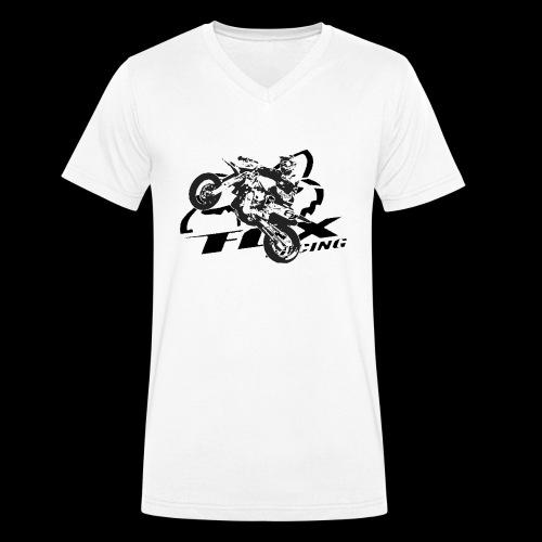Fox MX - Männer Bio-T-Shirt mit V-Ausschnitt von Stanley & Stella