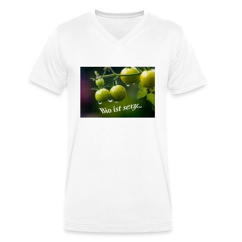 Bio ist sexy - Männer Bio-T-Shirt mit V-Ausschnitt von Stanley & Stella