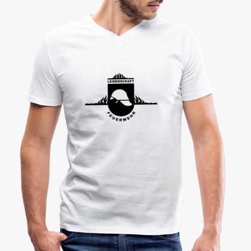 Leidenschaft Feuerwehr - Männer Bio-T-Shirt mit V-Ausschnitt von Stanley & Stella