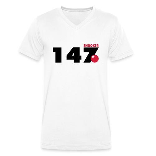 147 Snooker - Männer Bio-T-Shirt mit V-Ausschnitt von Stanley & Stella
