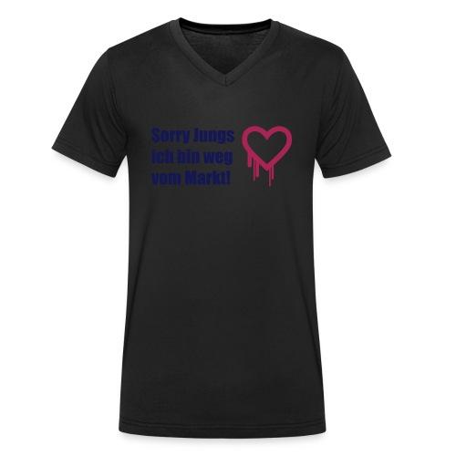 sorry jungs - bin weg vom - Männer Bio-T-Shirt mit V-Ausschnitt von Stanley & Stella