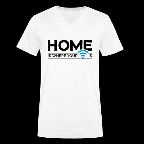 home is where … wi-fi - Männer Bio-T-Shirt mit V-Ausschnitt von Stanley & Stella