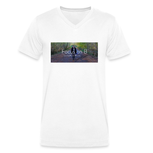 focus on b - T-shirt ecologica da uomo con scollo a V di Stanley & Stella