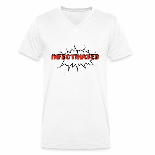 Infectinated - Men's Organic V-Neck T-Shirt by Stanley & Stella