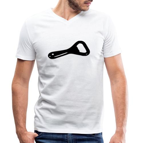 bottle opener - Men's Organic V-Neck T-Shirt by Stanley & Stella