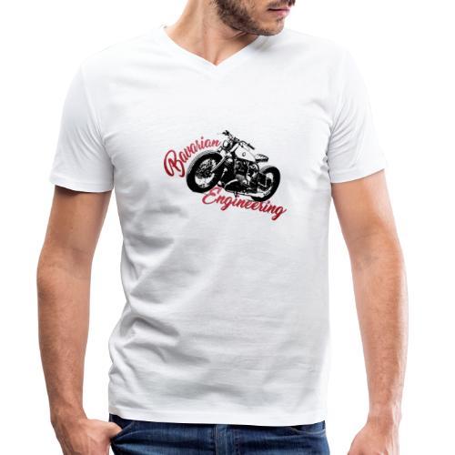 Bavarian Engineering Motorcycle - Männer Bio-T-Shirt mit V-Ausschnitt von Stanley & Stella