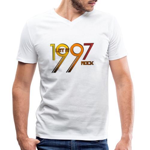 Let it Rock 1997 - Männer Bio-T-Shirt mit V-Ausschnitt von Stanley & Stella
