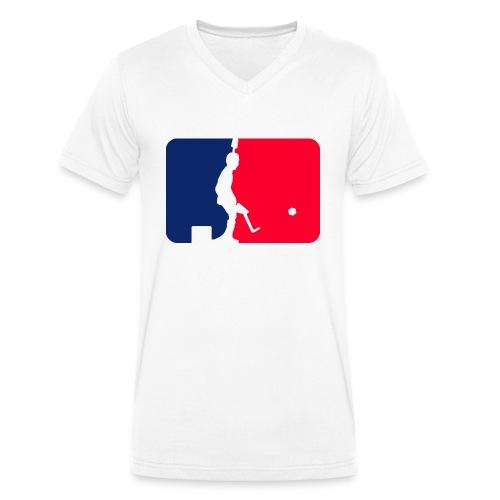 Major League Tipp-Kick Shirt - Männer Bio-T-Shirt mit V-Ausschnitt von Stanley & Stella