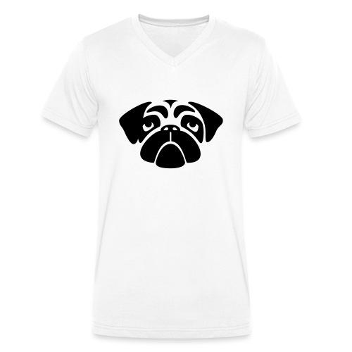 Mops - Männer Bio-T-Shirt mit V-Ausschnitt von Stanley & Stella