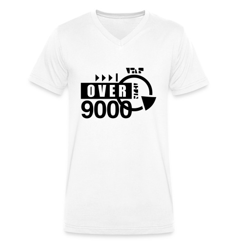 over 9000 - Men's Organic V-Neck T-Shirt by Stanley & Stella