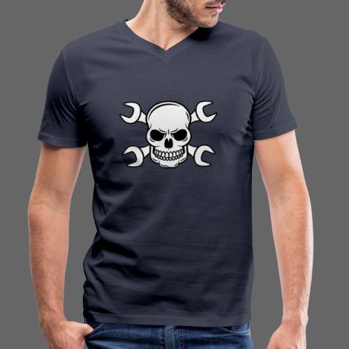 MEKKER SKULL - Økologisk Stanley & Stella T-shirt med V-udskæring til herrer
