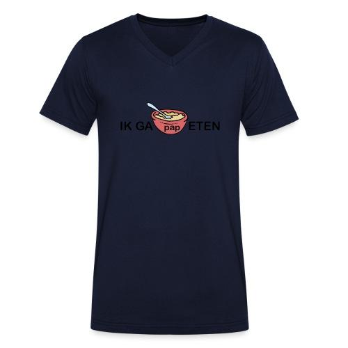 IK GA PAP ETEN - Mannen bio T-shirt met V-hals van Stanley & Stella