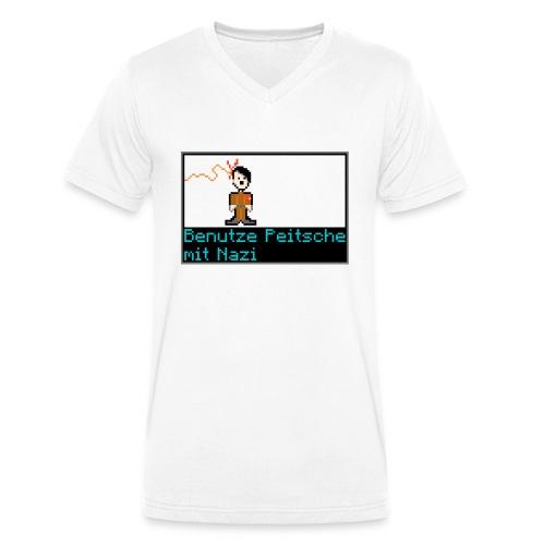 Benutze Peitsche mit Nazi - Männer Bio-T-Shirt mit V-Ausschnitt von Stanley & Stella
